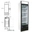 Single Swing Glass Door Refrigerator - 23 CU. FT.
