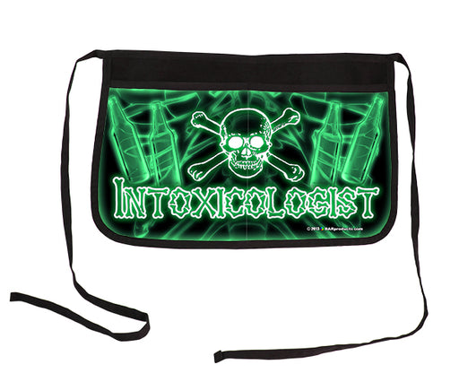 """Intoxicologist"" Green Two-Pocket Kolorcoat™ Server Apron"