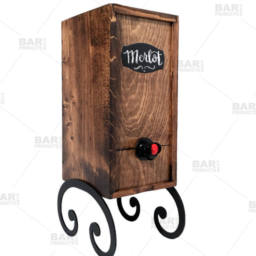 Dark Walnut Finish- Box Wine Dispenser – 3L Capacity