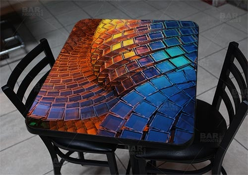 "Waveform 24"" x 30"" Wooden Table Top - Two Types Available"
