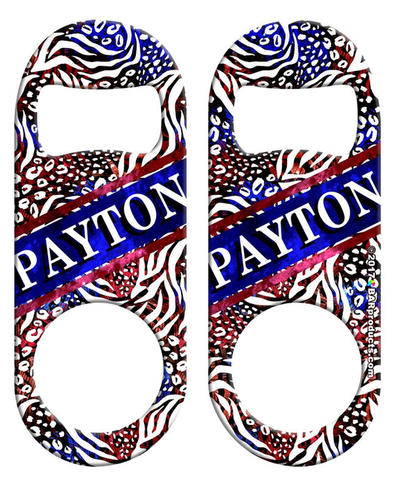 CUSTOMIZABLE Mini Bottle Opener - Patriotic Cheetah