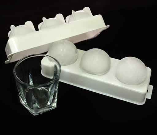 Whisky Glasses and Ice Ball Molds Set