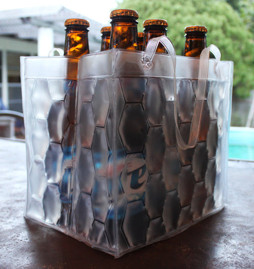 Clear Freezable Chill Bag- 6 Pack