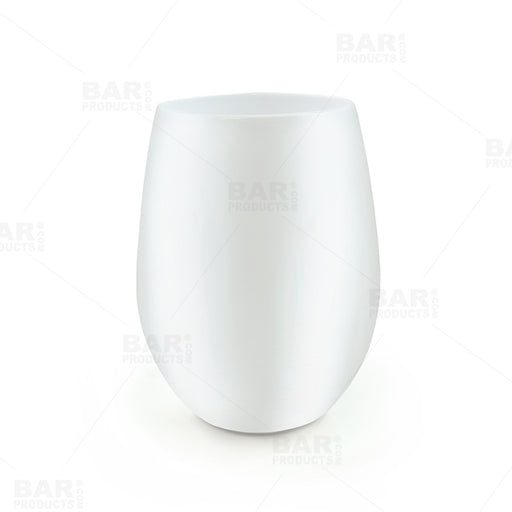Wine Glass - Stemless - White - 12 Ounce - Pack of 6
