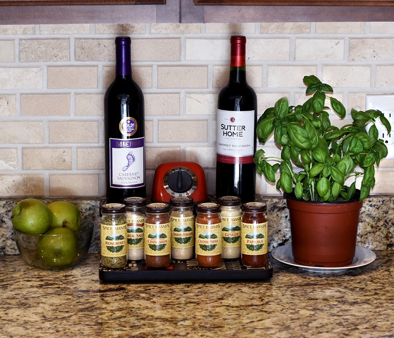 "Counter Caddies™ - WINE Theme - 12"" STRAIGHT Shelf"
