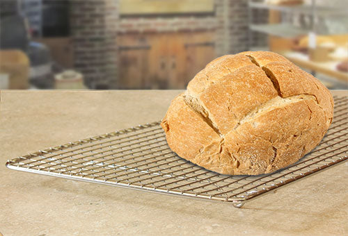 Wire Cooling Rack with Bread