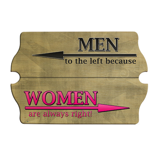 Women are Always Right Wood Bar Sign Tavern-Shaped