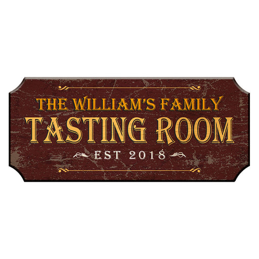 CUSTOMIZABLE Wood Plaque Sign - TASTING ROOM - Color Options