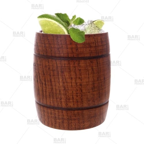 Wood Barrel Tumblers - Set of 2 (12oz)