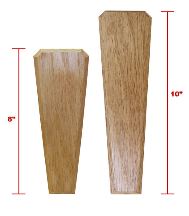Oak Wood Beer Tap Handles - Flared Shape - Initial Signature Craft - COMPARE
