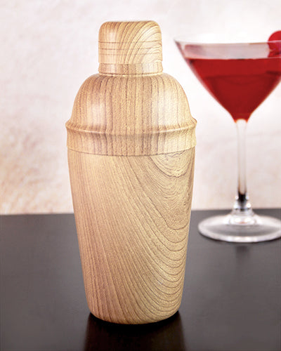 Cocktail Shaker w/ Wood Finish - 16 ounce