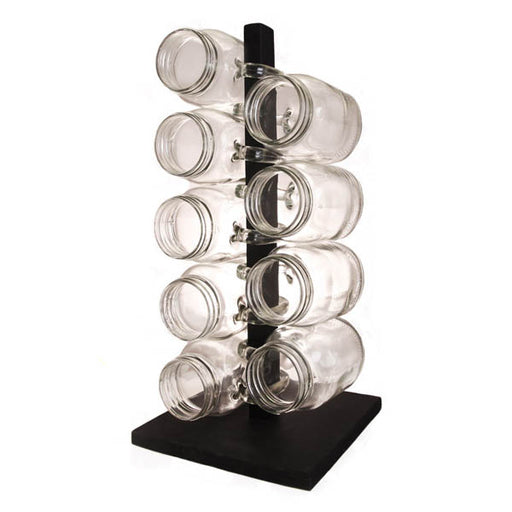 Black Wood Mug Rack