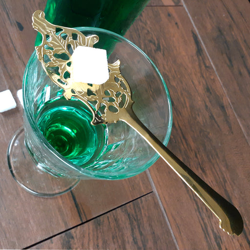 Wormwood Leaf Absinthe Spoon - Gold Plated