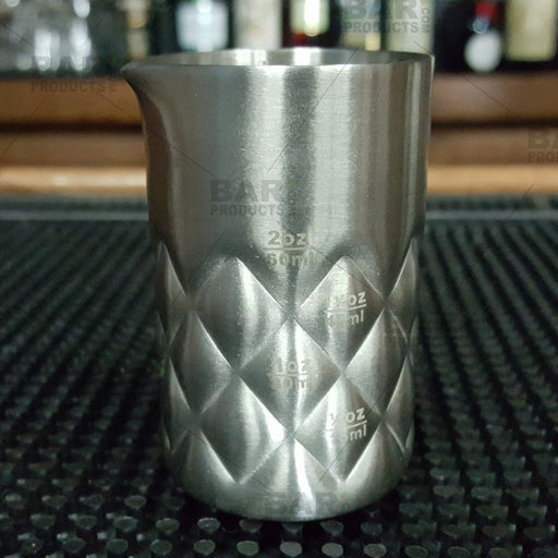 Stainless Steel Diamond Pattern Jigger - Spouted