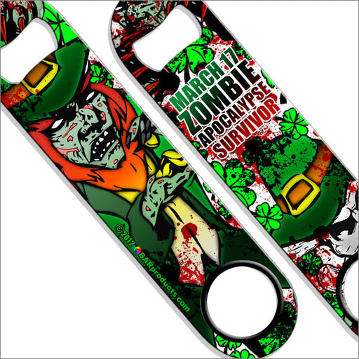 Speed Bottle Opener / Bar Key - Zombie Leprechaun