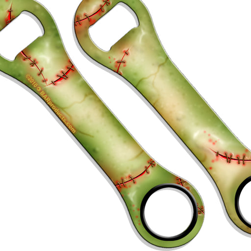 Zombie Skin Kolorcoat™ Dog Bone Bottle Opener