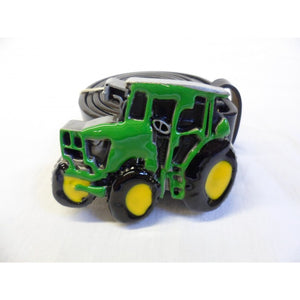 Green, yellow and black tractor buckle with belt