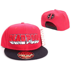 Marvel's Deadpool 3D writing snapback cap