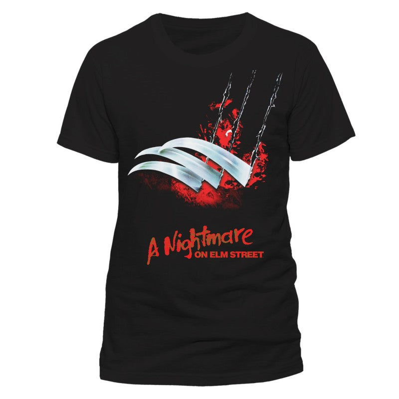 Official Nightmare on Elm street Freddy claw / glove black t-shirt