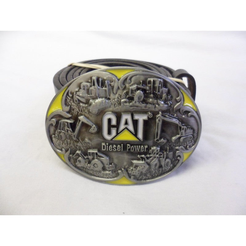Willy Cat digger collage buckle with belt