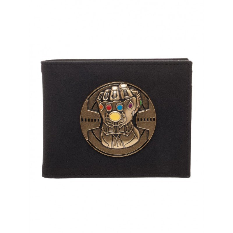 Official Avengers: infinity war Thanos infinity gauntlet metal symbol wallet