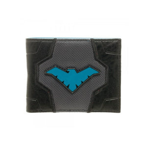 Official DC Comics Nightwing suit up costume black wallet
