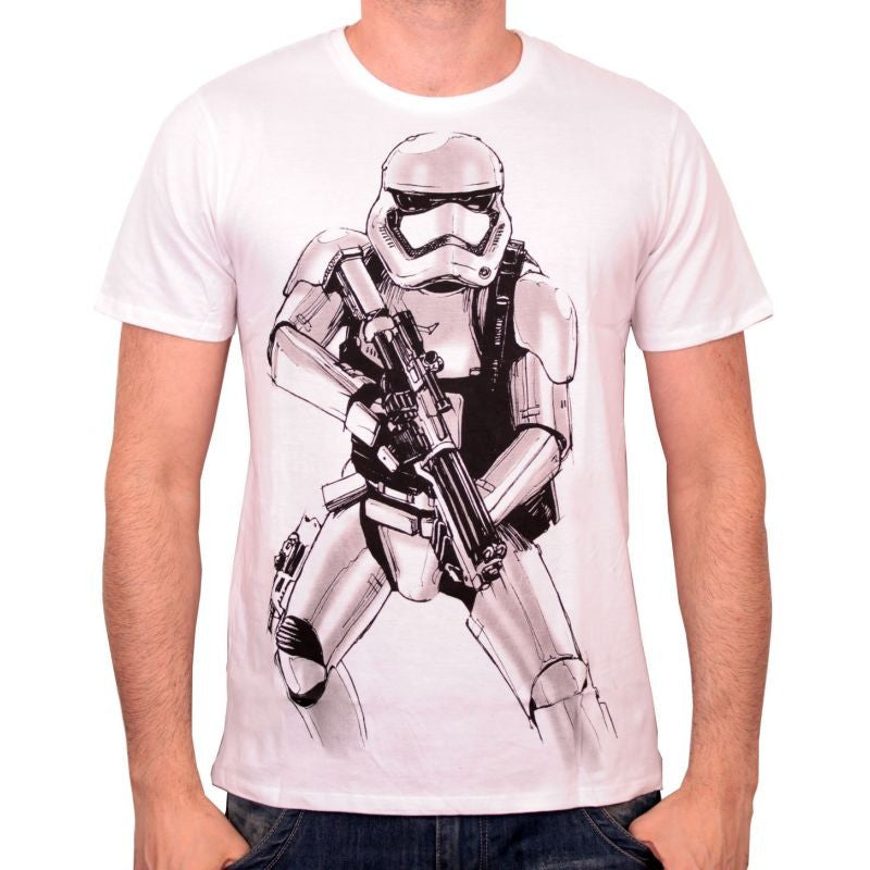 Star wars Stormtrooper sketch white t-shirt