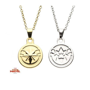 Marvel comics - Captain Marvel and Goose friendship necklace