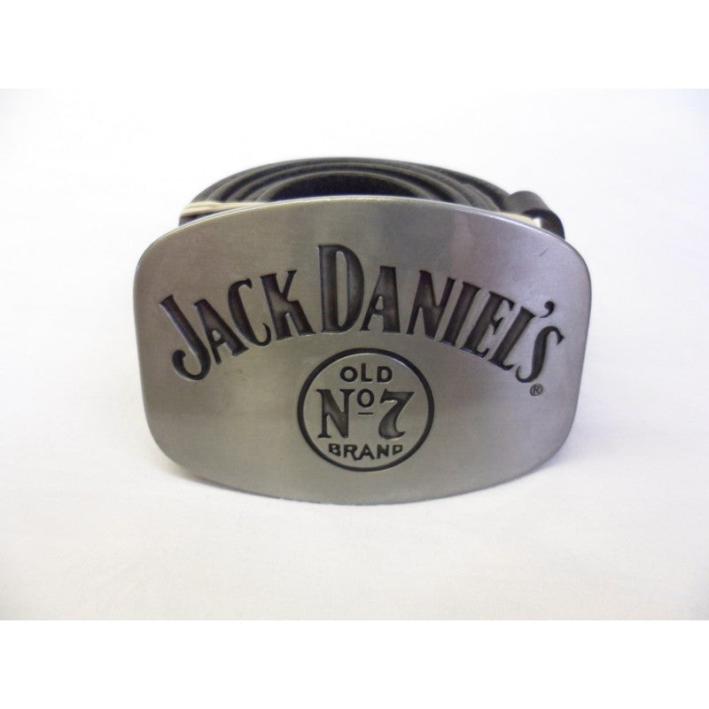 Grey distressed Jack Daniels buckle with belt