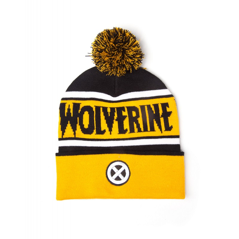 Official Marvel comics: Wolverine X-men symbol pom beanie