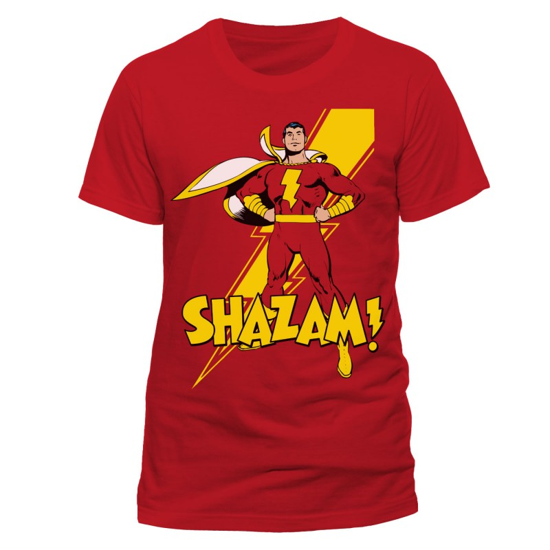Official DC Comics SHAZAM red t-shirt