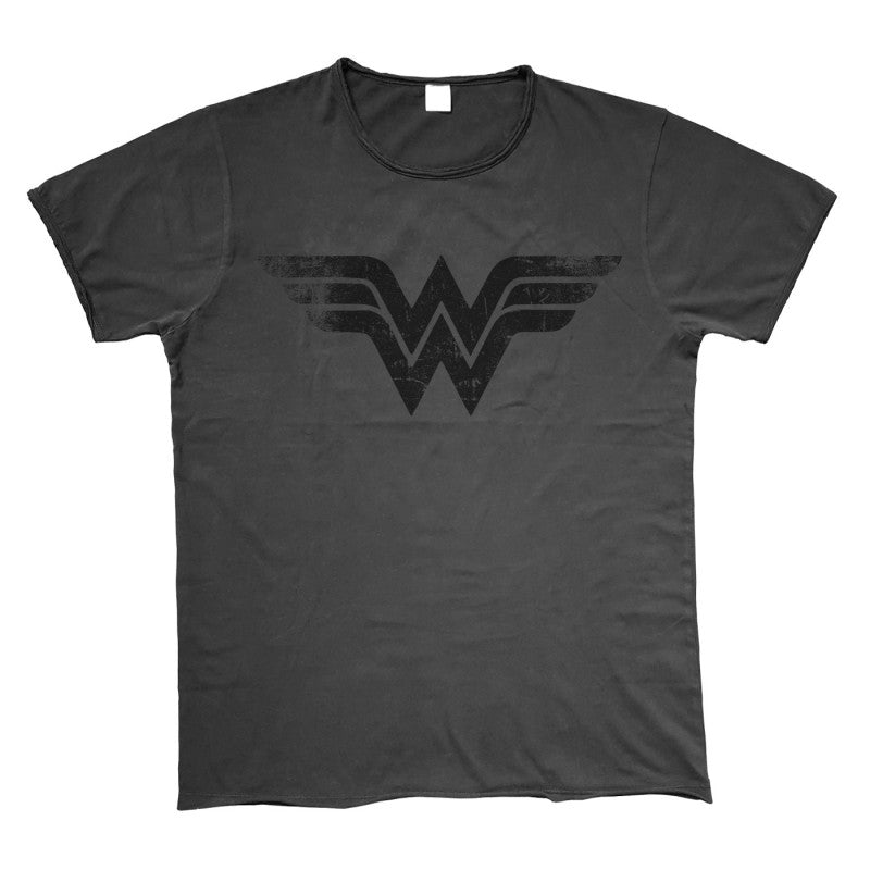 Official DC Comics - Wonder Woman symbol vintage styled t-shirt