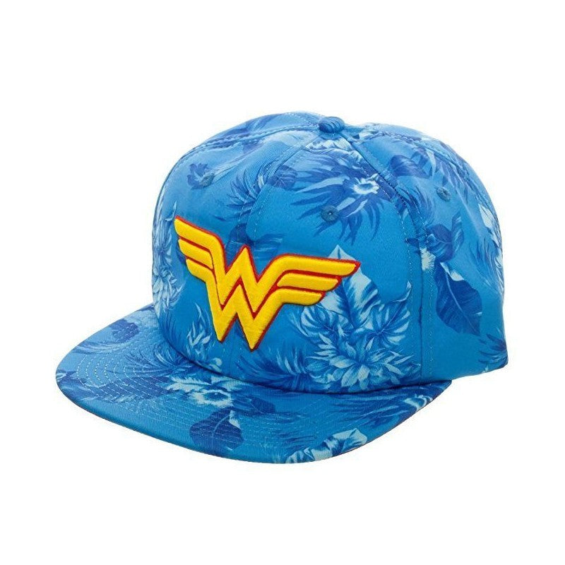Official DC Comics - Wonder Woman classic symbol tropical floral print slouch cap