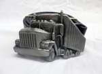 Classic USA styled grey truck / lorry buckle with belt
