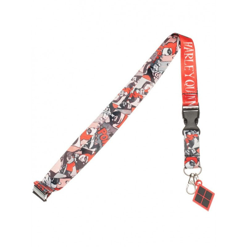 Official DC comics Batman: Harley Quinn all over comic print lanyard