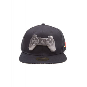 Official Sony Playstation - PSOne metal controller black snapback cap