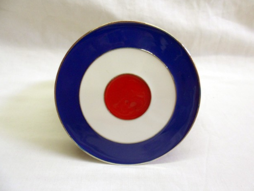 RAF red, white and blue round target buckle with belt