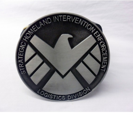 Marvel's agents of S.H.I.E.L.D. modern logo buckle with belt