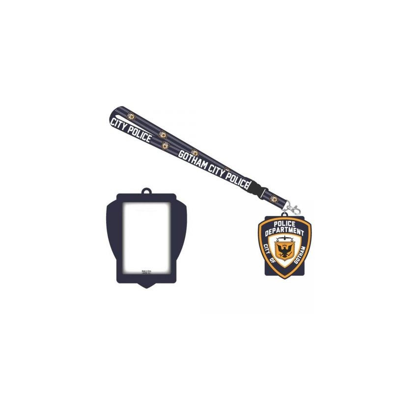 Official DC comics - Gotham GCPD rubber badge lanyard