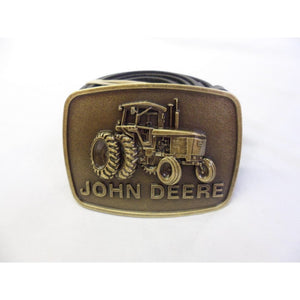 John Deere vintage styled tractor buckle with belt
