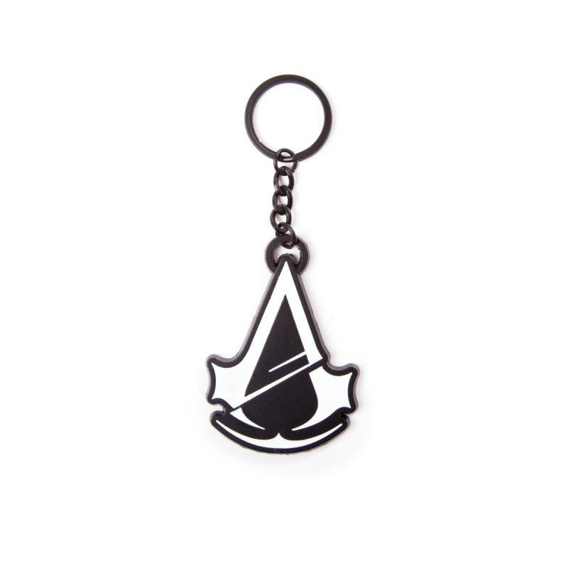 Assassin's creed - unity black & white metal keyring
