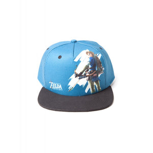 Official the legend of Zelda: breath of the wild - Link arrow printed blue snapback cap