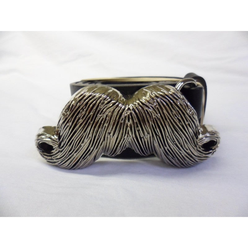 Mustache grey buckle with belt