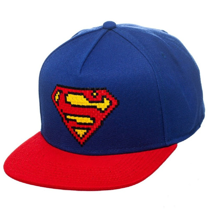 8-bit Superman snapback cap