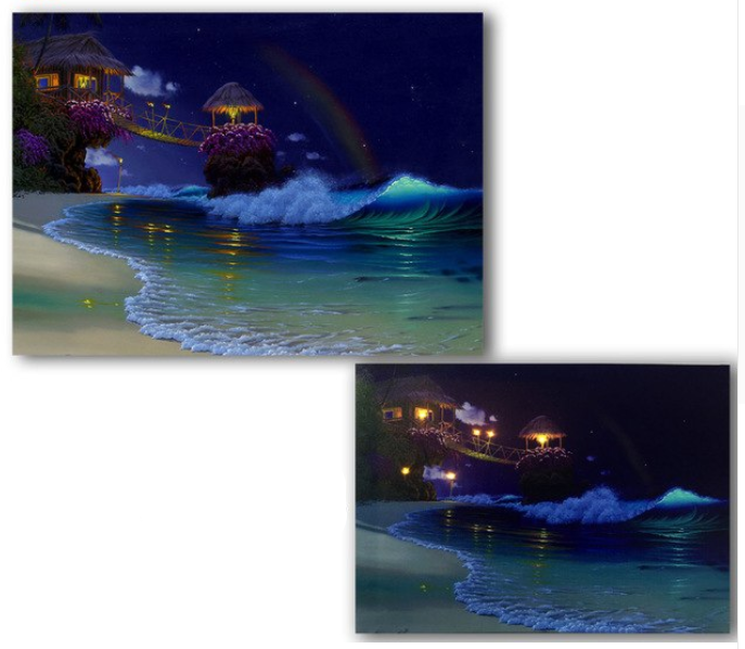 LED fantasy rainbow beach