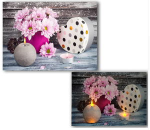 LED flowers & gift box