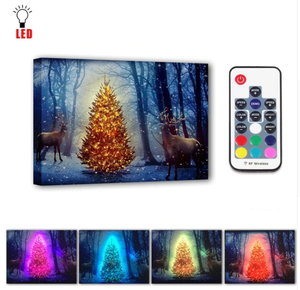 LED christmas tree with deers