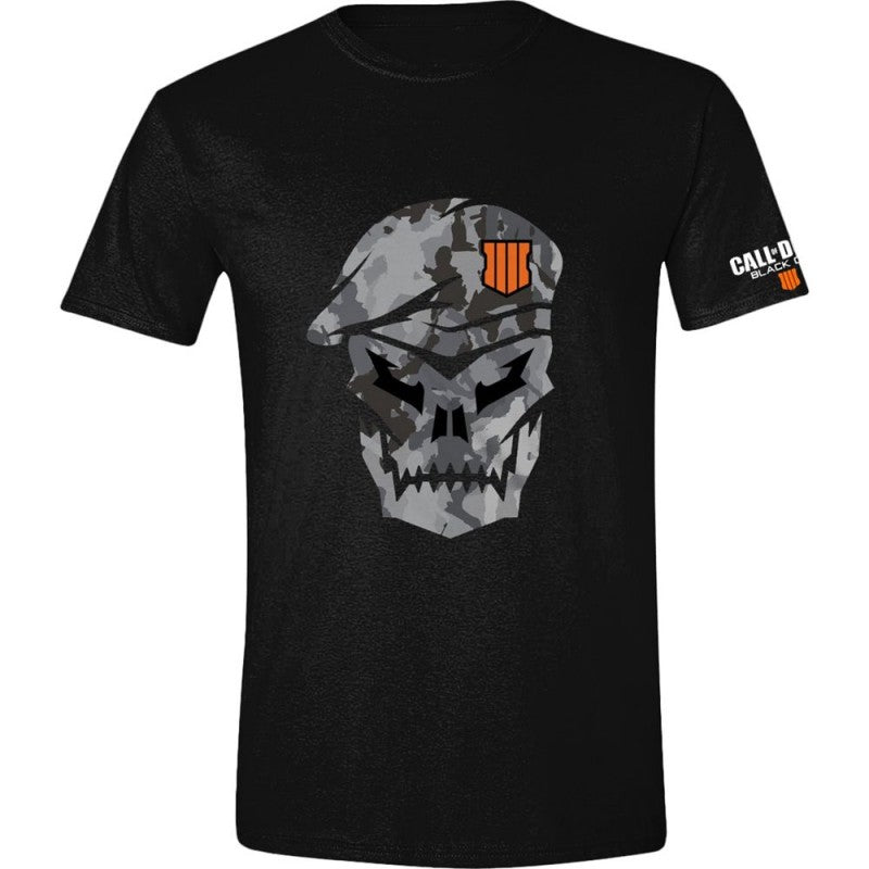 Official Call of duty black ops 4 skull camouflage logo t-shirt