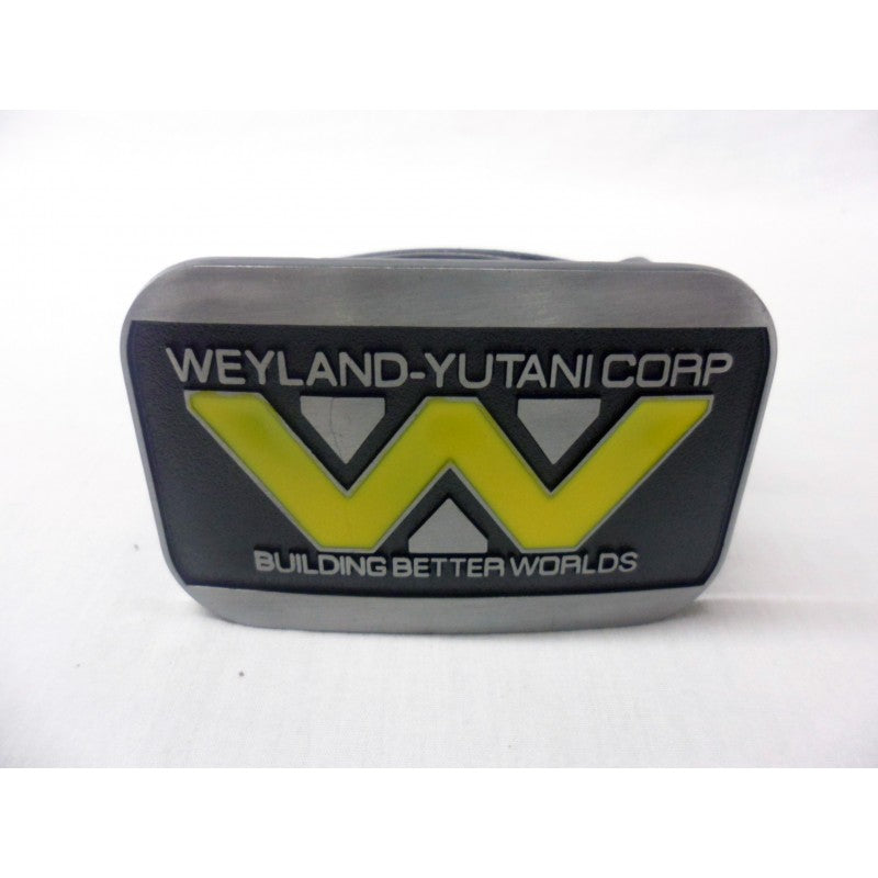 Alien - Weyland-Yutani corp 'building better worlds' buckle with belt
