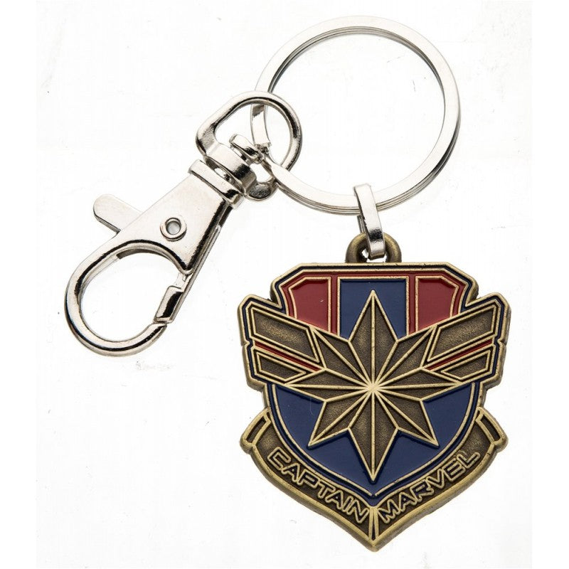 Marvel comics - Captain Marvel symbol metal keyring